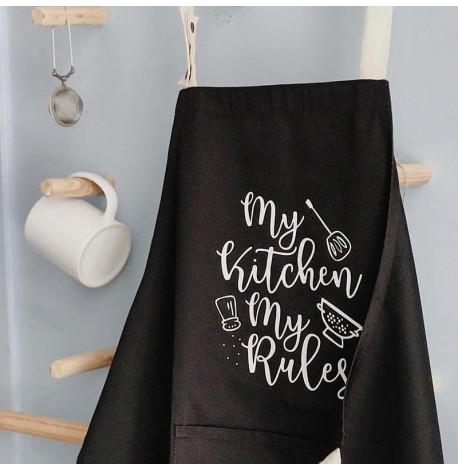 Фартук My kitchen. My rules (черный)